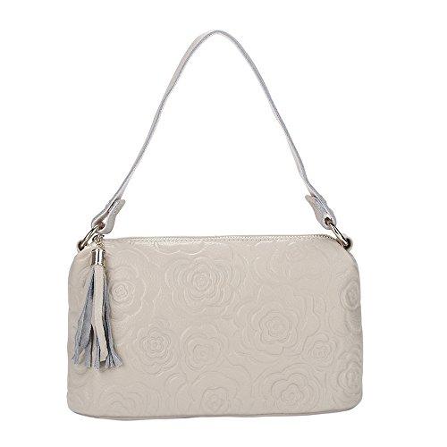 GWQGZ Nueva Moda Bolso De Cuero Bolso De Hombro Sello Diagonal Blanco