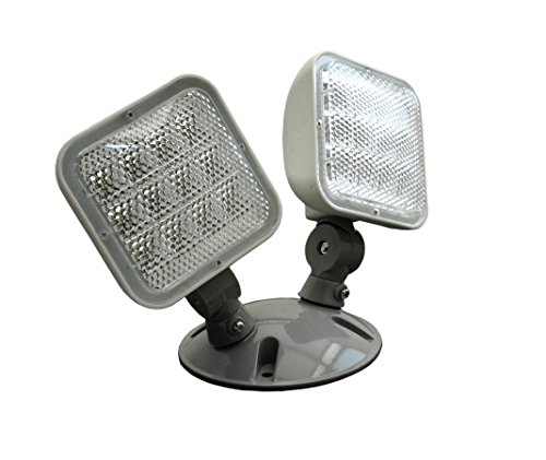NICOR Lighting Wet Location Emergency LED Remote Dual Head Fixture ()