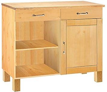 loft24 abby kuchenschrank kuche schrank unterschrank anrichte 100 x 60 x 85 cm kiefer