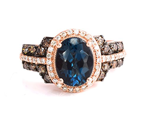 LeVian Deep Sea Blue Topaz Rin