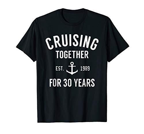 30th Anniversary Gift TShirt Cruising Together 30 Years Tee
