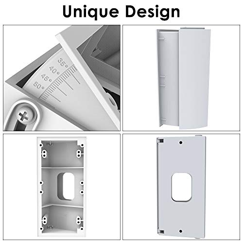 Adjustable Angle Mount for Ring Video Doorbell 1st 2nd Gen//Ring Wi-Fi Enabled