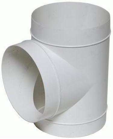 Unión en T Vents PVC para Extractor de aire/Tubo flexible (125mm): Amazon.es: Jardín