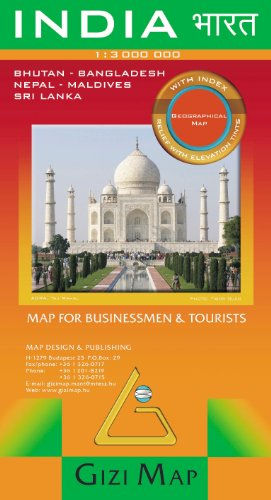 India/Nepal/Bhutan/Bangladesh/Sri Lanka: World Map...