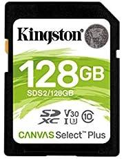 Kingston 128GB SDHC Canvas Select Plus 100MB/s Read Class 10 UHS-I U1 V10 Memory Card (SDS2/128GB)