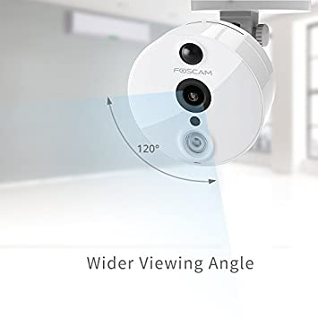 Foscam C2 1080P Full HD WiFi - Cámara IP de Seguridad, Lente 2MP con P2P, Audio Birireccional, Blanco: Amazon.es: Electrónica