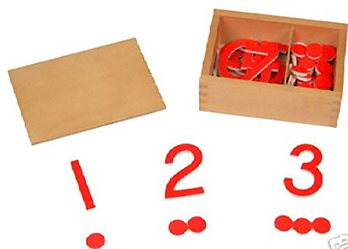 Montessori Cut-Out Numerals Numbers & Counters (5mm - International Usps First-class Mail Package