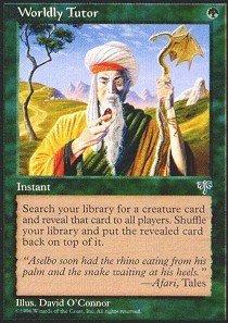 Magic: the Gathering - Worldly Tutor - Mirage