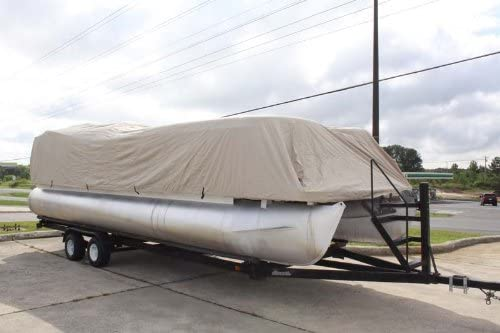 HAS Elastic and Straps FITS 14 FT to 16 FT Long Deck Area Vortex Brand NEWTAN//Beige 16 Ultra 3 Pontoon Boat Cover UP to 102 Beam 1 to 4 Business Day DELIVERY