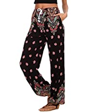 Urban CoCo Women's Floral Print Boho Yoga Pants Harem Pants Jogger Pants Hippie Trousers