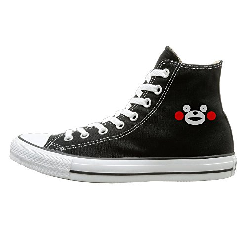Hype Man Costume (Jajade Men & Women Cute Kawai Japan Bear Kumamon High Top Sneakers Canvas Shoes Design Sport Shoes Casual Style 43 Black)