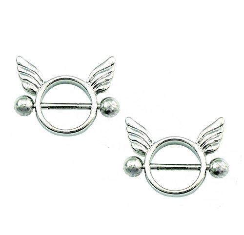 hyidealism pezón anillo bares orejas. Cuerpo Piercing Joyas par 14G se vende como par