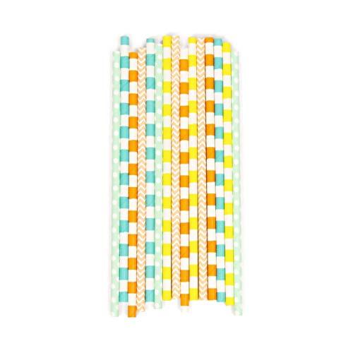 Retro Carousel Biodegradable Straws (15pc+) (Retro Carousel)
