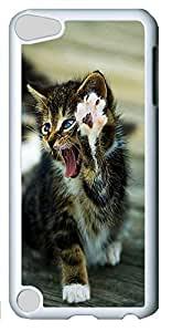 Fashion Customized Case for iPod Touch 5 Generation White Cool Plastic Case Back Cover for iPod Touch 5th with Cute Cat