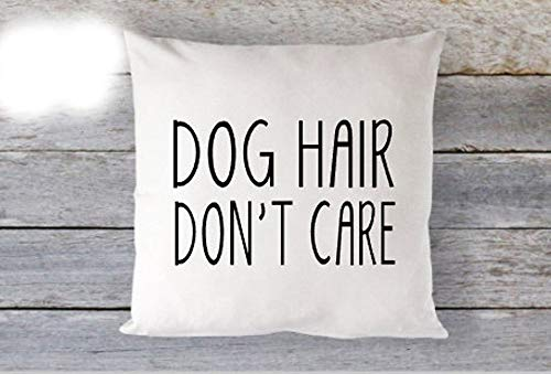 Maltese Jack Russell (High quality Dog Hair Don't Care Pillow Dog Lover Pillow 16 x 16 Pillow Cover Zip Closure Cute)
