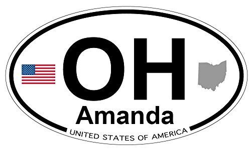 (Amanda, Ohio Oval Sticker )