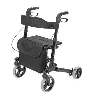 Health Smart Gateway Rolling Walker Color: Black