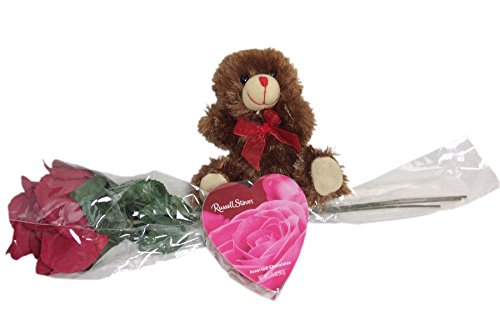 velvety-3-stem-red-rose-gift-set-with-bouquet-chocolate-scented-bear-and-russel-stover-chocolates