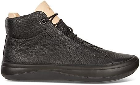 ECCO Women's Women's Kinhin High Top Fashion Sneaker, Black
