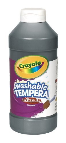 Crayola Artista II Washable Tempera Paint 16oz Black]()