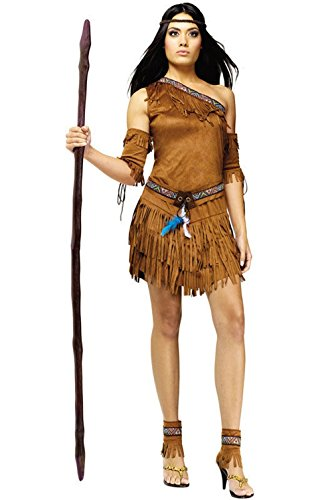 [Mememall Fashion Sexy Pow Wow Pocahontas Native American Indian Princess Adult Costume] (Red Indian Princess Costume)