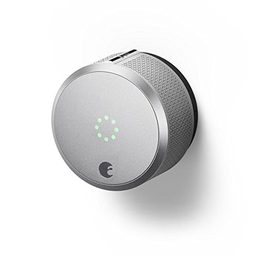 August AUG-SL-CON-S03 Silver Smart Lock Pro, 3rd Generation-Dark Gray, Apple HomeKit Compatible and Z-Wave Plus Enabled