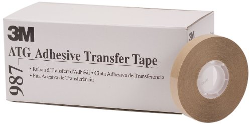 924 Adhesive Transfer Tape - 3M ATG Adhesive Transfer Tape 987, 0.50 in x 36 yd 2.0 mil (Case of 12)