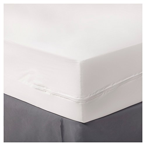 Room Essentials Zippered Water Proof Mattress Cover California King Size Sheet Total Stains and Spills Protection - White