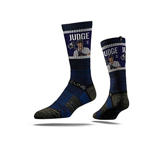 Strideline MLB PA New York Yankees Aaron Judge Premium Crew Socks, Navy, One Size (Mlb Mens Accessories)