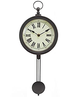"Kiera Grace- 16.5"" Pendulum Wall Clock"
