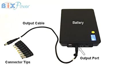BiXPower 24V & 5V High Capacity (99 Wh, or 27,000mAh) Rechargeable Battery with 24V Mini UPS Function - BiXPower MP100-24V