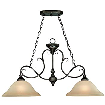Craftmade 24232-MB 2 Light Island Chandelier