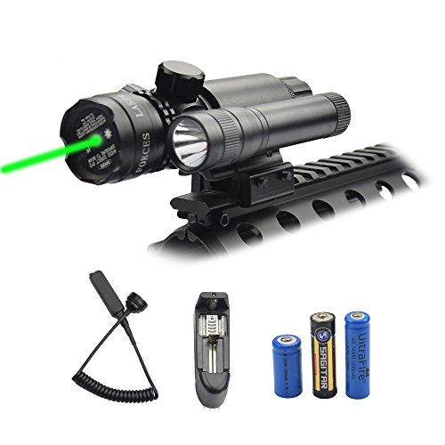 Feyachi Green Laser Sight - 532nm Green Dot sight & Flashlig