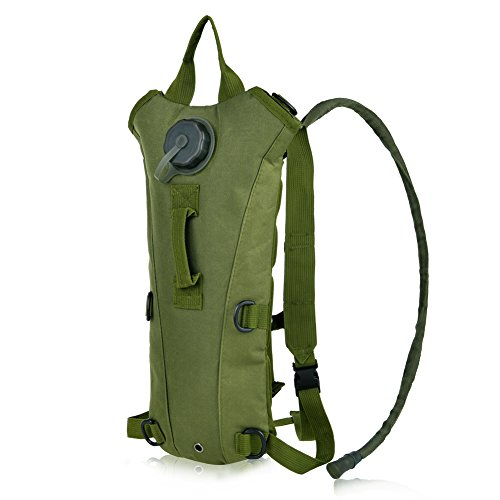 Vbiger Hydration Pack with 3L Bladder Water Bag Great for Hunting Climbing Running and Hiking (Army Green, One Size)