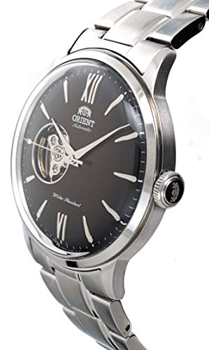 ORIENT Classic Bambino Open Heart Automatic Maroon Dial Watch RA-AG0027Y