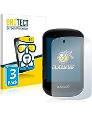 BROTECT Glas Screenprotector compatibel met Garmin Edge 530 / Edge 830 (3 Stuks) - Beschermglas met 9H hardheid