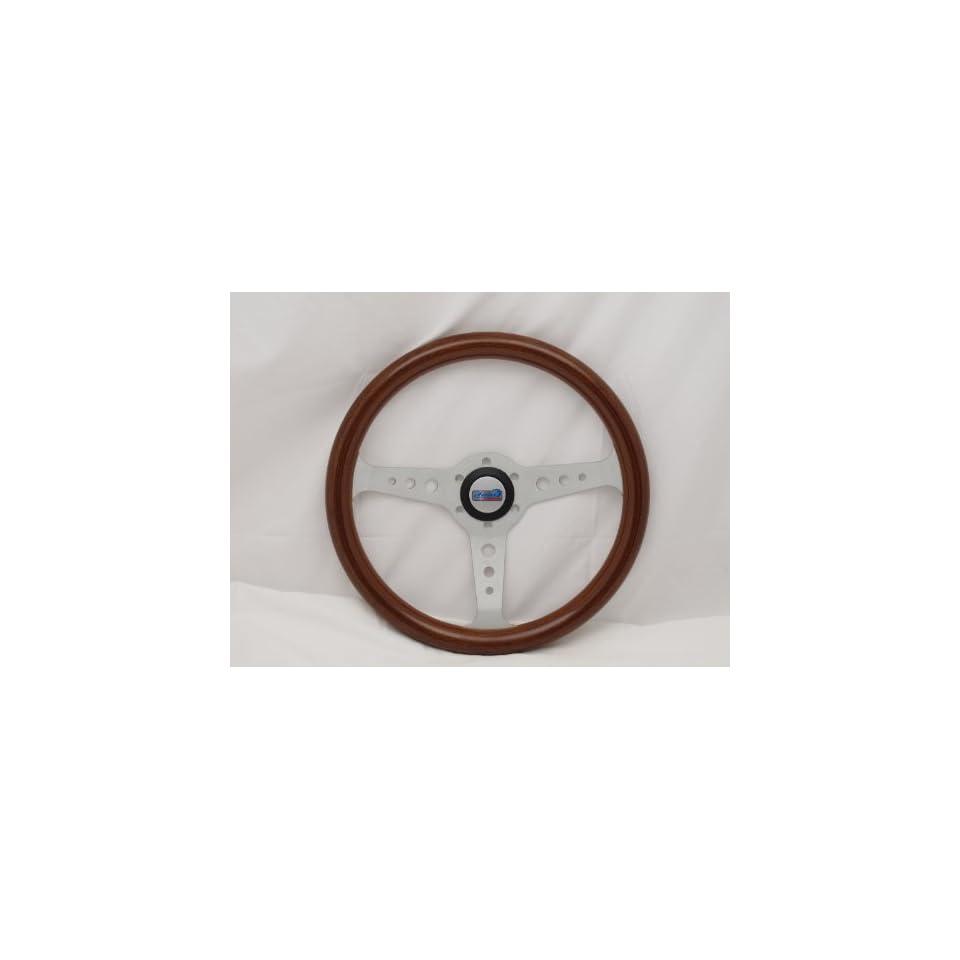Sport Line 350 mm Wood Marine Boat Steering Wheel + HUB   Mille Miglia   Part # 30117 (WH)