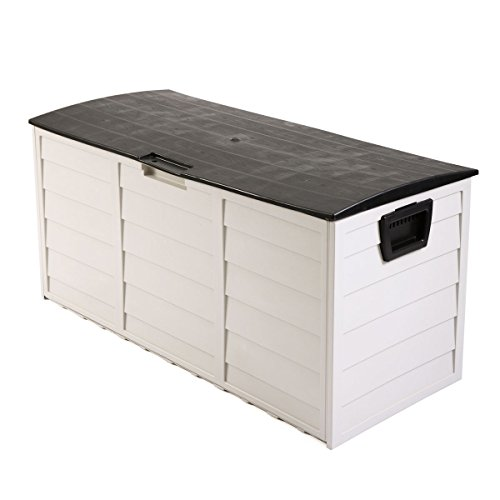 Tobbi Outdoor Patio Deck Storage Box Garage Shed Backyard Garden Tool Box Container