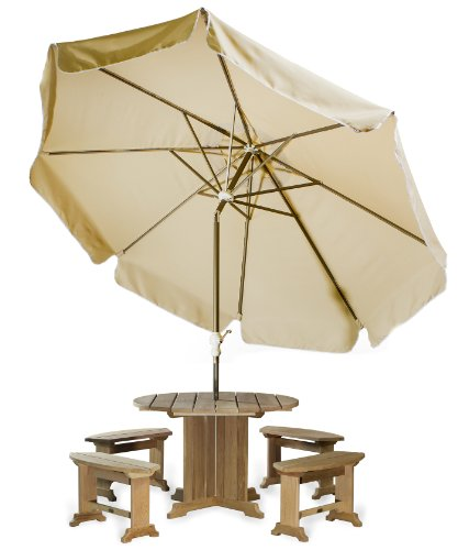 All Things Cedar Patio Umbrella, Tan, 10'