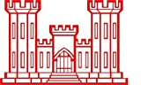 Military, Engineer Castle, Vinyl Car Decal, 'Red', '5-by-5 inches'