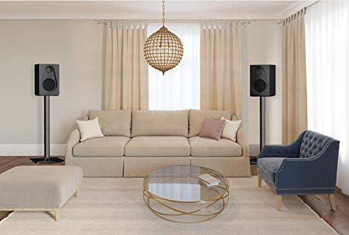PERLESMITH Universal Floor Speaker Stands 26 Inch for Surround Sound, Klipsch, Sony, Edifier, Yamaha, Polk & Other Bookshelf Speakers Weight as much as 22lbs - 1 Pair