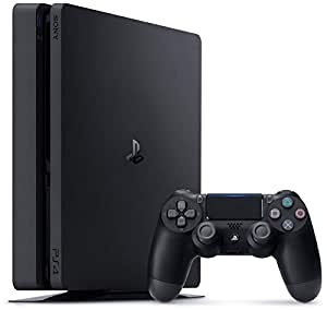 Sony PlayStation 4 Slim 500GB Console with 1Dual Shock4 Wireless Controller - Black (PS4)