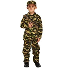 Boys Child's Army Military Camouflage Soldier Uniform Fancy Dress Costume Outfit (7-9 years) by Fancy Me