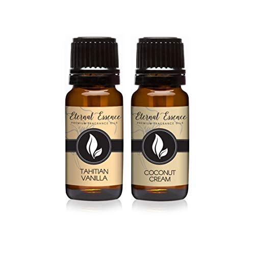 Pair (2) - Coconut Cream & Tahitian Vanilla - Premium Fragrance Oil Pair - 10ML ()