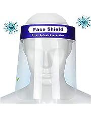 FHUILI Anti-Escupir Protector Facial - Careta de protección de Seguridad Industrial - el Visera de Protector de Cara con Clear Visera - Diseño Banda elástica para el Taller de Cocina de Limpieza,A