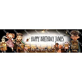 Personalized Customized The Boxtrolls Name Banner Wall Decor Poster with Frame