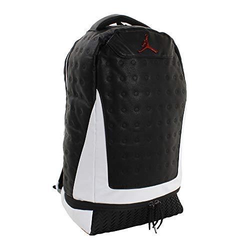 Nike Jordan Retro 13 Backpack - Black/White 9A1898-210 (Retro 17 Jordan Shoes)