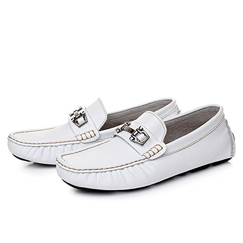 On Casual Boat Go Go Tour Loafers The Slip Driving On Classic Mens White Shoes Moccasins Cwwx4FZqz