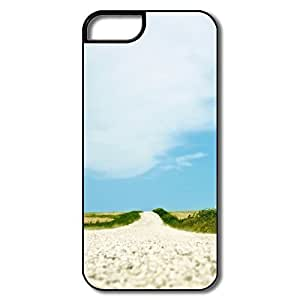 IPhone 5 5S Cover, Old Dirt Road White/black Cases For IPhone 5S BY supermalls