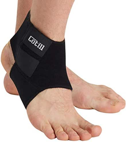 Ankle Support for Men and Women - Neoprene Breathable Adjustable Ankle Brace Sprain for Running, Basketball by Cotill